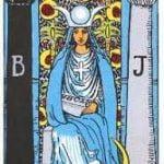 Significados y descripción de la carta de la Sacerdotisa en posición vertical